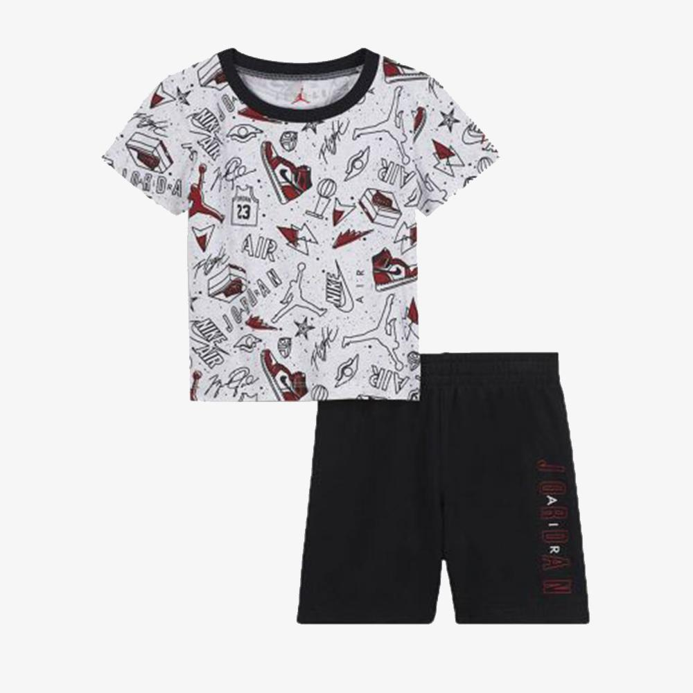 ABBIGLIAMENTO - COMPLETO JORDAN FUN FLIGHT T-SHIRT & SHORT SET