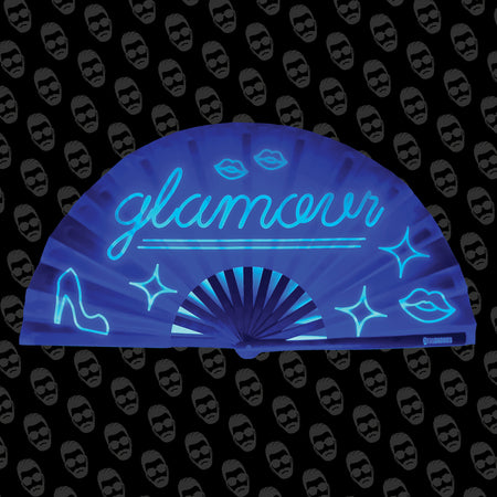 Neon Glamour UV Fan