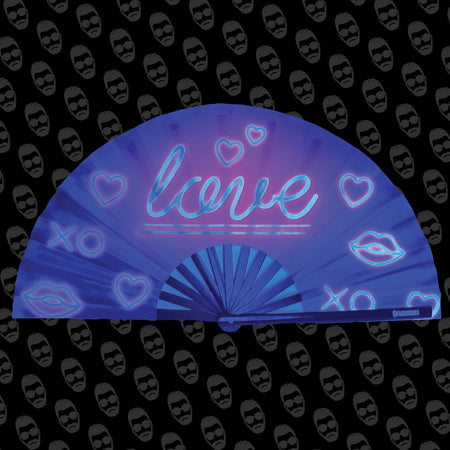 Neon Love UV Fan
