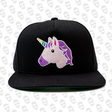Load image into Gallery viewer, Unicorn Emoji Snapback Hat