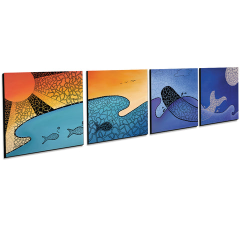 24 HOURS IN PARADISE - SET OF 4 - Limited Edition Giclee Prints