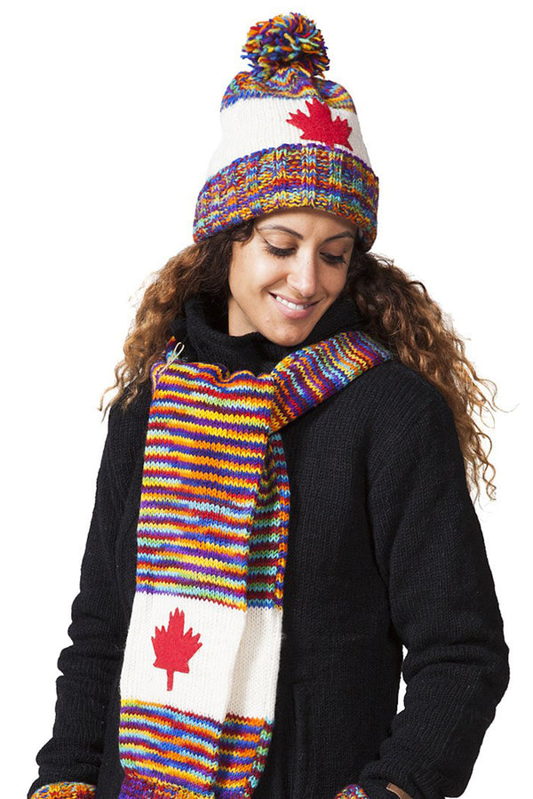 Multi Colour Canadian Wool Hat