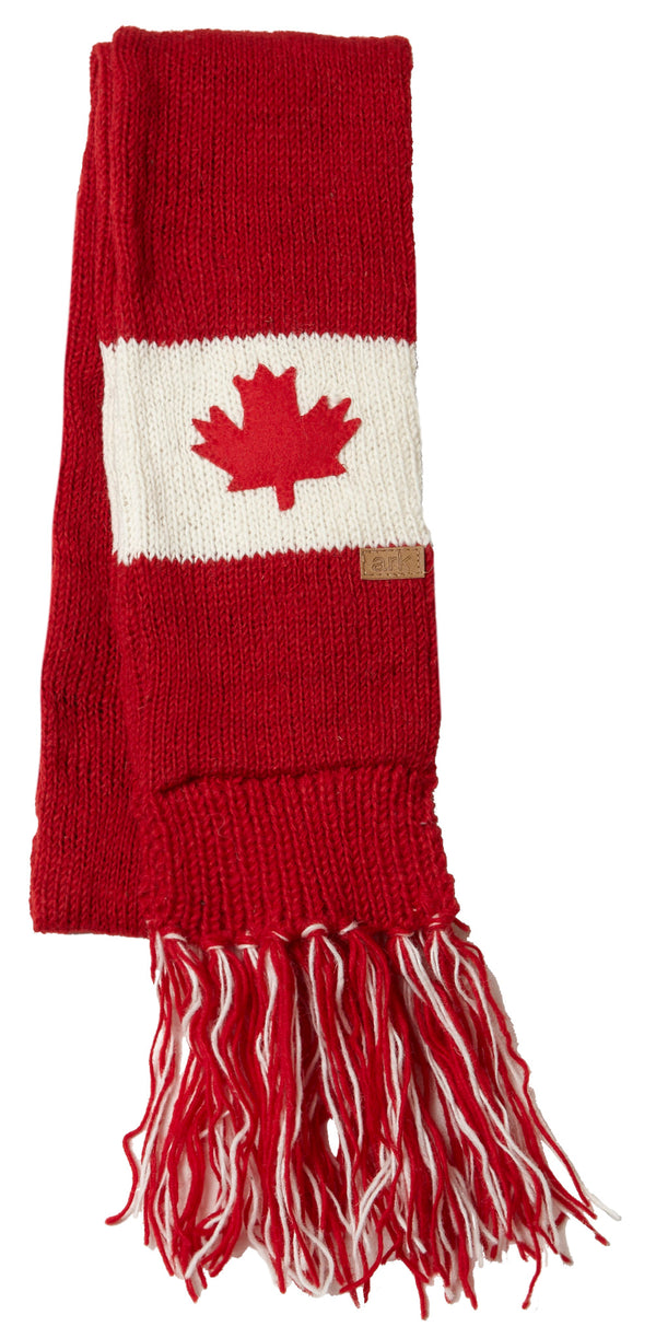 Canadiana Patchwork Scarf- Red/White