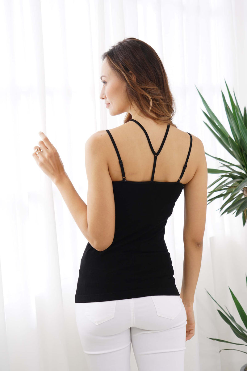 BAMBOO STRAPPY FRONT CAMI