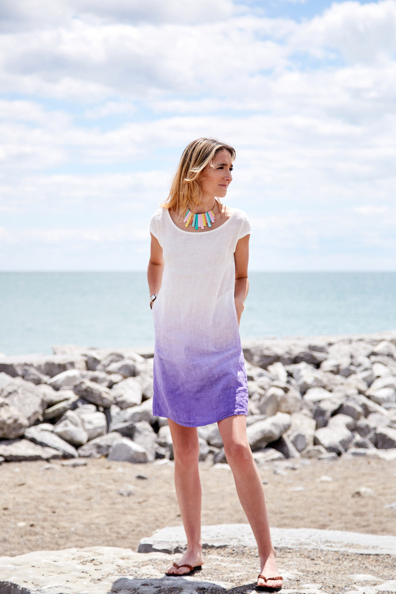 Charming Parrot Sustainable Linen Dress