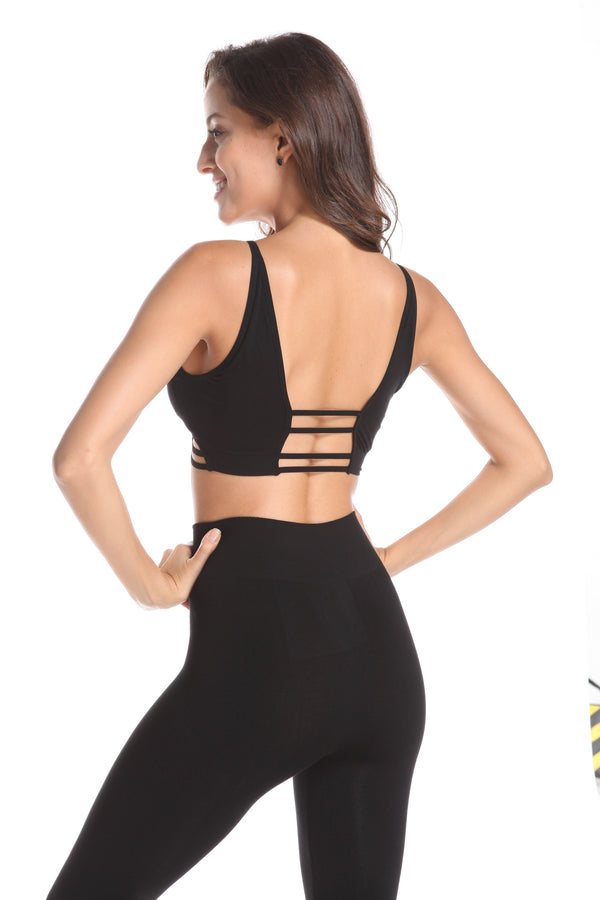 BAMBOO OPEN BACK SPORTS BRA