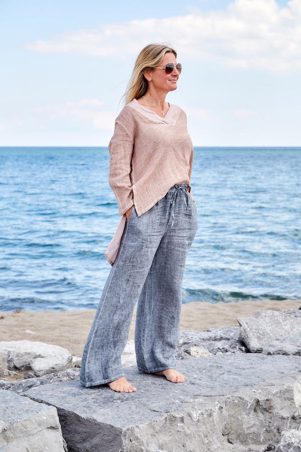 Charming Parrot Sustainable Linen Pant