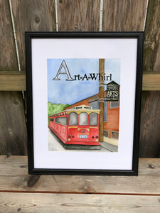 A is for Art a Whirl - Original Framed Painting