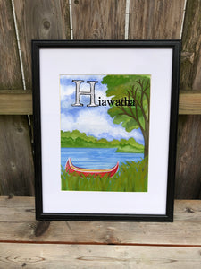 H is for Hiawatha - Original Framed Painting