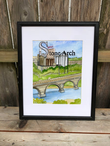 S is for Stone Arch - Original Framed Painting