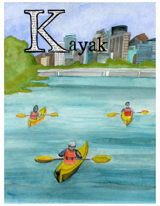 K is for Kayak