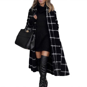 BLACK WOOLEN LONG COAT