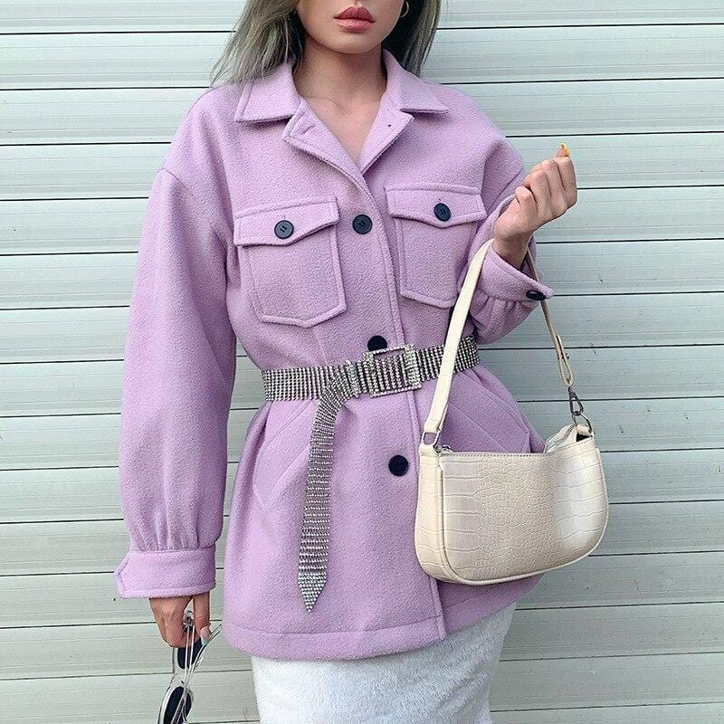 PURPLE OVERSIZED COAT