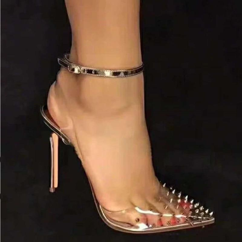 lavish clear heels