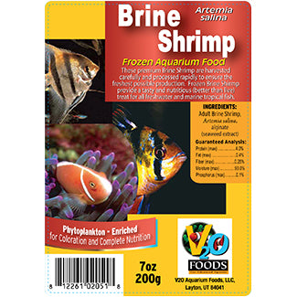 V2O Brine Shrimp 100g Blister Pack