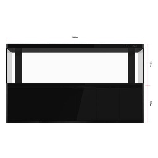 PROREEF 610 GLASS AQUARIUM WITH CANOPY BLACK 119x29x67