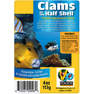 V2O Clams 1/2 Shell 4oz