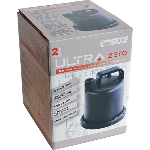 Sicce ULTRAZERO Utility Pump 793 gph 10.2ft max head