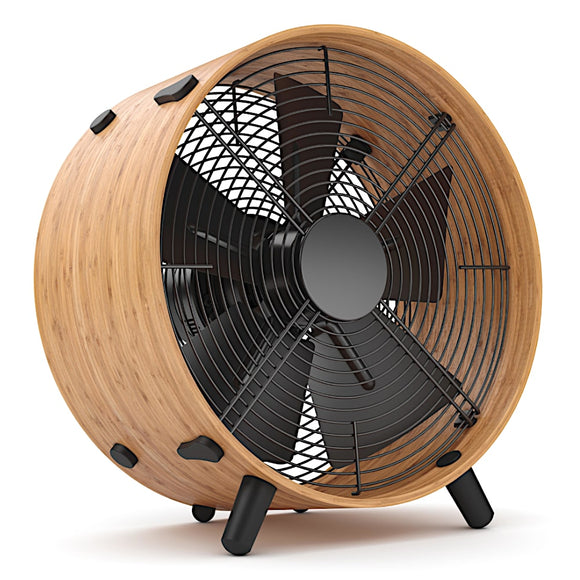 Stadler Form Tim Portable Desk Fan White Front - Aerify
