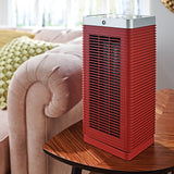MeacoHeat MotionMove Eye Fan Heater 1000-2000 Watts Red In Living Room On Table - Aerify
