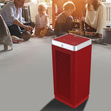 MeacoHeat MotionMove Eye Fan Heater 1000-2000 Watts Red In Living Room With Kids - Aerify