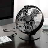 Stadler Form Tim Portable Desk Fan Black On Desk - Aerify