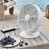 Stadler Form Tim Portable Desk Fan White Outside - Aerify