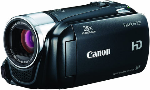 Canon VIXIA HF R20 Full HD Camcorder with 8GB Internal Flash Memory (Black)