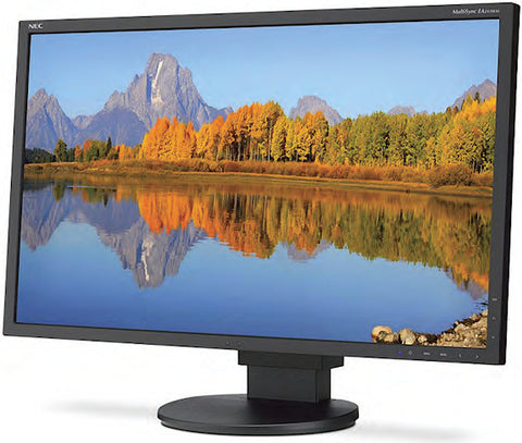 "NEC Display MultiSync EA243WM BK 24"" 1920x1200 LED LCD Monitor Adjustable"