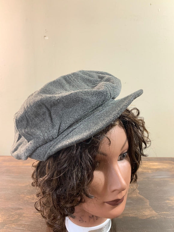 Vintage Gray Newsboy Hat Gray Wool Hat Mens Newsboy cap Women Newsboy Hat Peaky Blinders gray Driver cap Cabbie hat