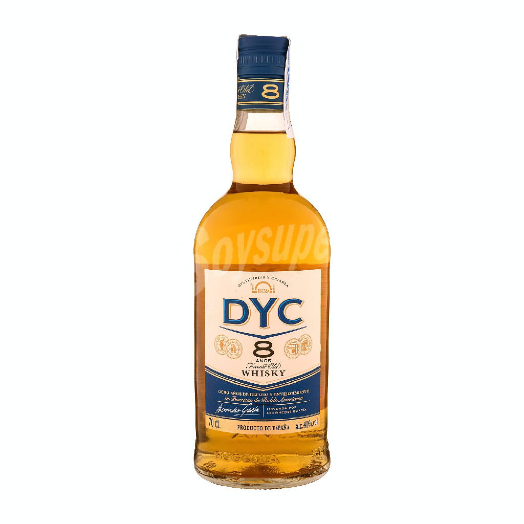 WHISKY DYC 8 ANOS 70CL