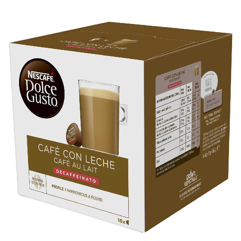 DOLCE GUSTO CAFE LECHE DESC