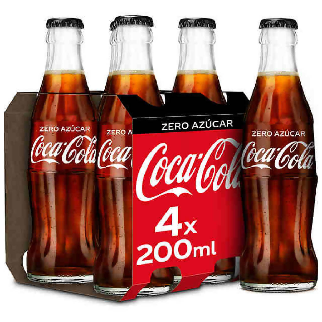 COCA COLA ZERO BOTELLIN PACK-4