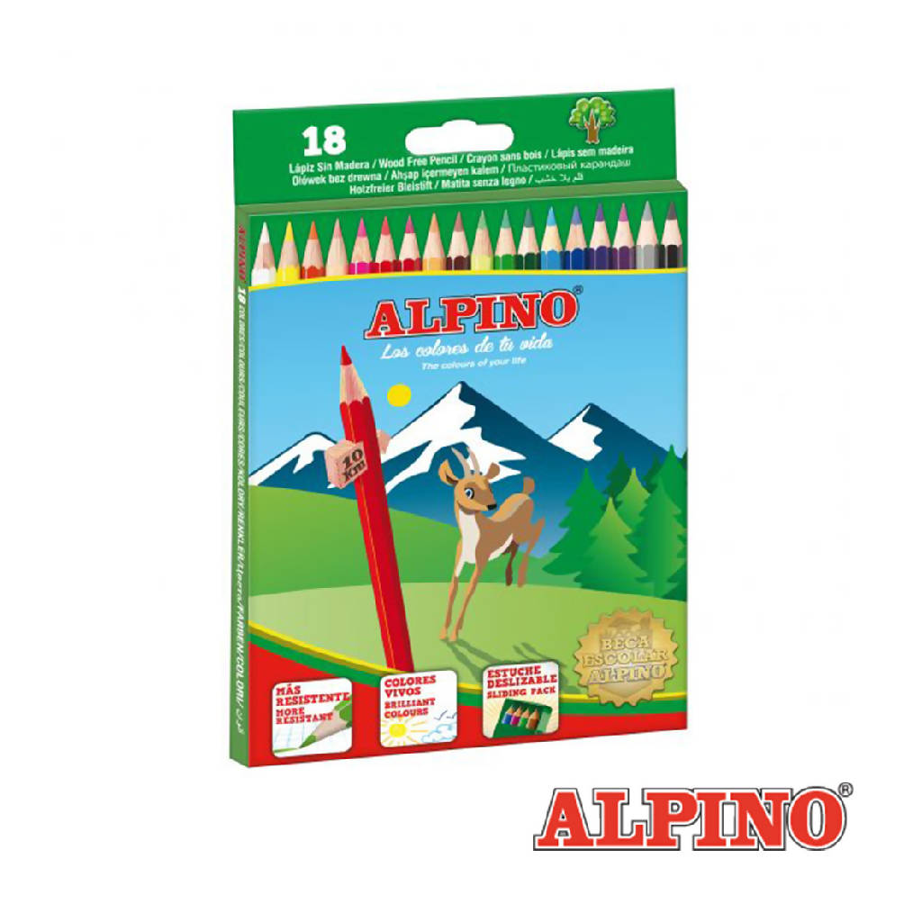 LAPICES COLORES ALPINO 18
