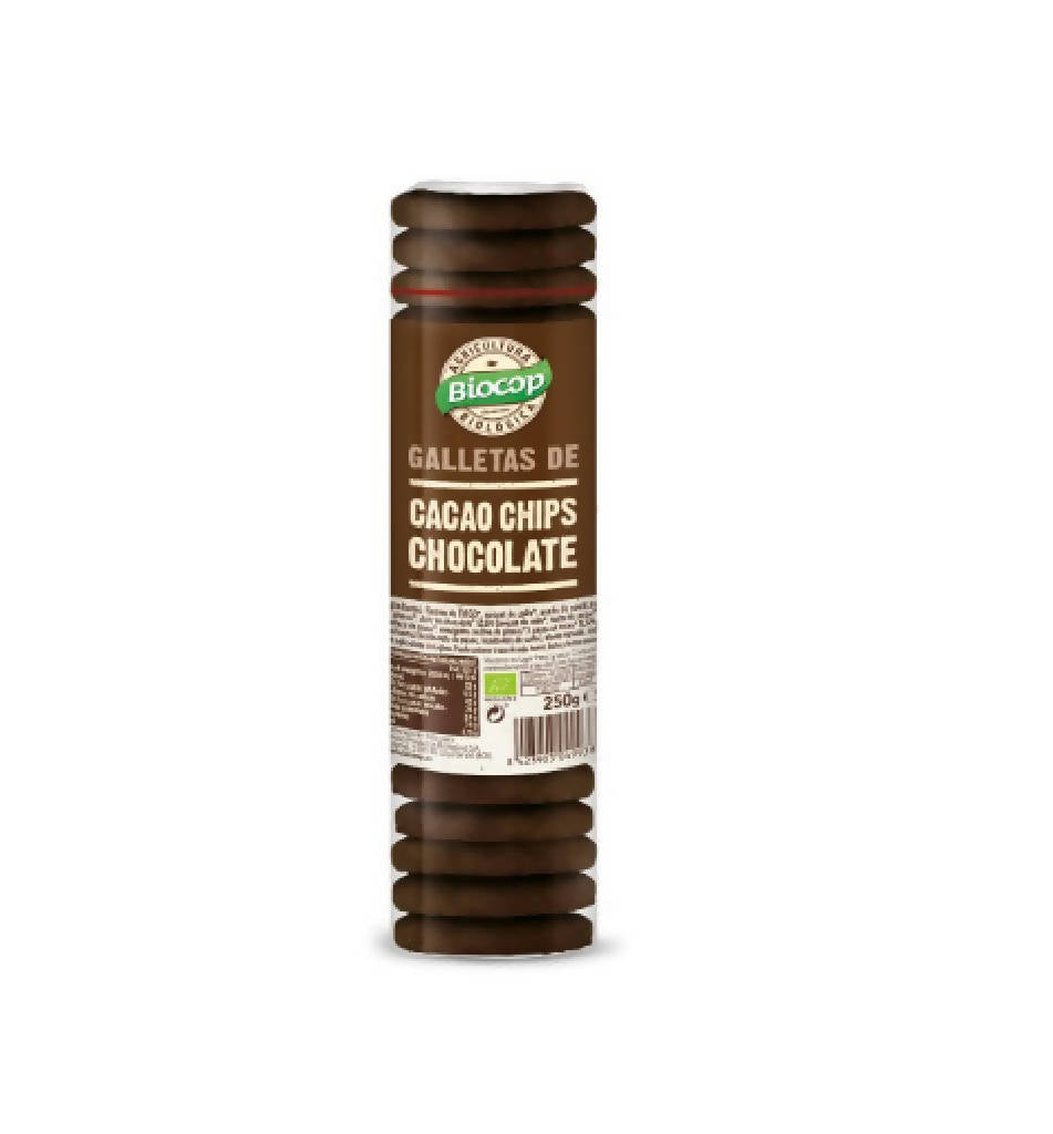 Galletas de cacao con chips de chocolate · 250 gr. · Biocop