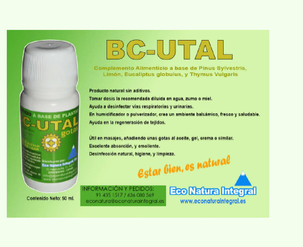 BC-UTAL gotas 50 ml. Eco Natura Integral