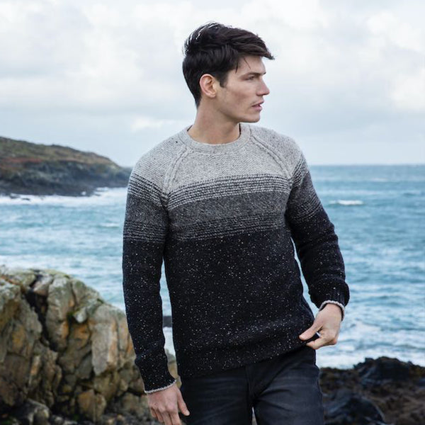 Crew Neck Sweater with Stripe, Guinness