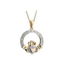 Load image into Gallery viewer, Diamond Claddagh Pendant