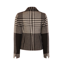 Load image into Gallery viewer, 3 Button Short Jacket - Black / White Check