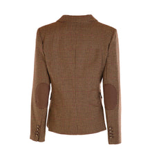 Load image into Gallery viewer, Three Button Short Tweed Jacket - Brown Houndstooth