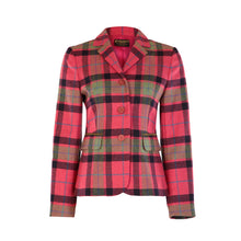 Load image into Gallery viewer, Three Button Short Tweed Jacket - Pink, Navy & Green Check