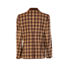 Load image into Gallery viewer, 4 Button Velvet Collar Hacking Jacket - Chocolate Brown & Camel Square