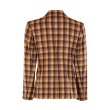 Load image into Gallery viewer, Four Button Double Pocket Hacking Jacket - Choc Brown/Camel Square
