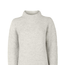 Load image into Gallery viewer, Alpaca Links Stitch Sweater, Pearl Grey