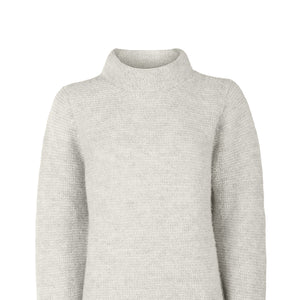 Alpaca Links Stitch Sweater, Pearl Grey