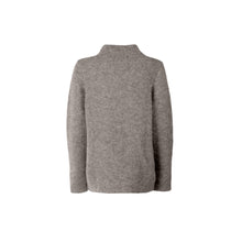 Load image into Gallery viewer, Alpaca Links Stitch Sweater, Oxford Grey