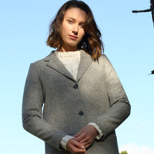 Load image into Gallery viewer, Aoibheann Coat, Light Grey Herringbone