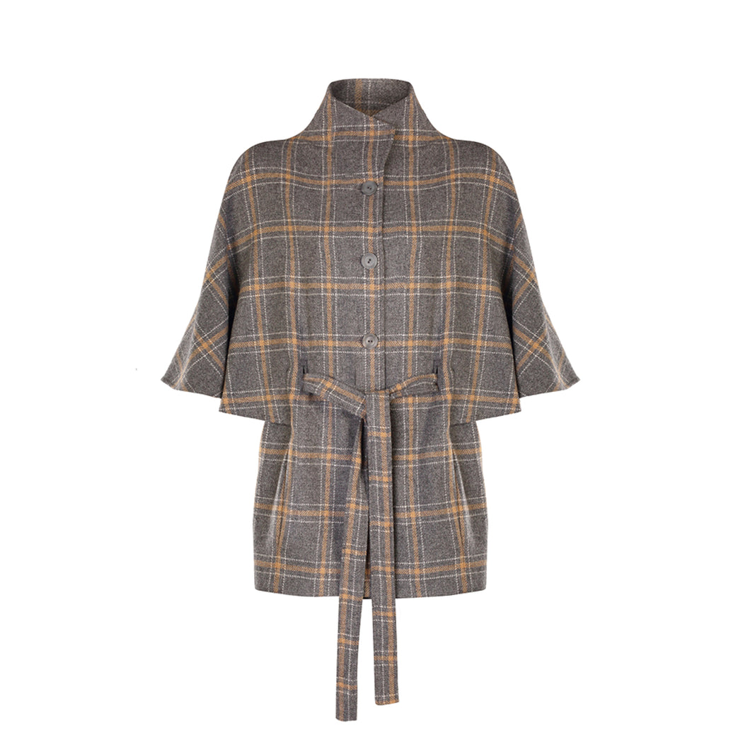 Aoife Cape Grey & Tan