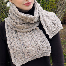 Load image into Gallery viewer, Aran Scarf, Oatmeal