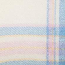 Load image into Gallery viewer, Blue & Pink Border Check Irish Wool Baby Blanket